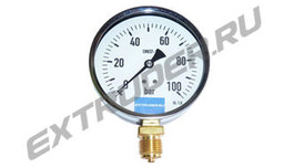 Manometer 100 bar LUX for extruder filters, glycerin-filled on request