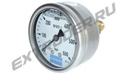 Manometer 600 bar für das Hydraulikaggregat, mit Glyzerin gefüllt