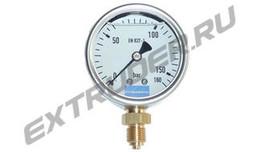 Manometer 160 bar Reinhardt Technik 30135600, 90220580, 95004742 für das Hydraulikaggregat, mit Glyzerin gefüllt