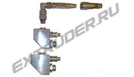 Смесительный блок LUX, Reinhardt Technik, HDT с быстроразъемным соединением для промывочного насоса