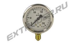 Manometer 250 bar Reinhardt Technik 95000829 für das Hydraulikaggregat, mit Glyzerin gefüllt