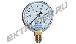 Manometer 100 bar LUX for extruder filters
