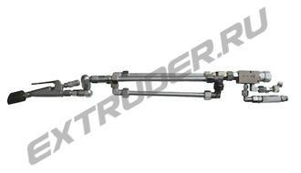 Конечная часть LUX-16S, Lisec 357491, 357492. С магистралью для промывки, стальной смесительный блок. 3 трубки и 3 шнека
