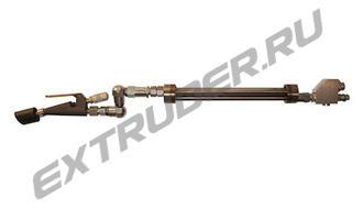Конечная часть LUX, нержавеющий смеситель облегченной чистки, PTFE пистолет, Z-шарнир спереди