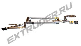 Конечная часть LUX-16S для Lisec, 3 трубки и 3 шнека