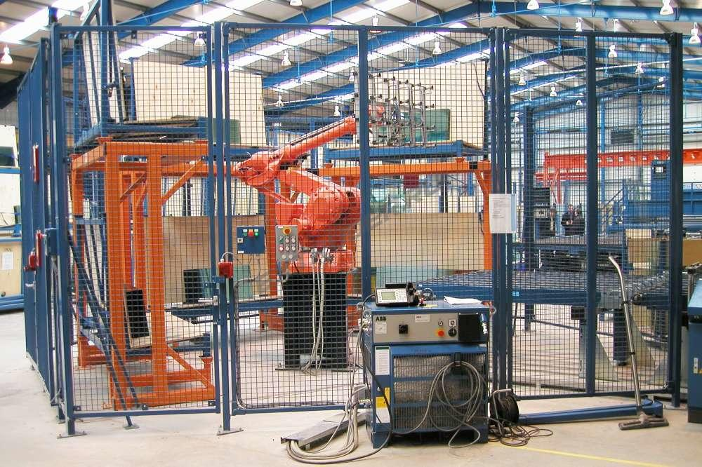Production equipping with manipulators and robots