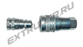 High-pressure quick coupling LUX for the flushing pump