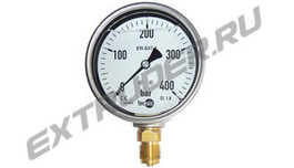 Manometer 400 bar Lisec 00003857 glycerin-filled