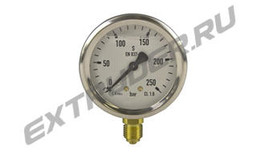 Manometer 250 barReinhardt Technik 95000829 for the hydraulic station; glycerin-filled