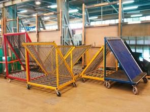 Glass sorting harp rack Loeffler FW-D-60