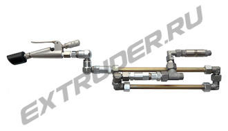 "Mixing line LUX-16S Lisec, Z-swivel joint and straight swivel joint ""new design"""