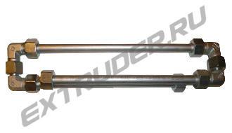 """Смеситель """"Lisec"""" 16S 00238043. 3 трубки, 3 спирали (стандартно 2 трубки х 300 мм, 1 трубка х 335 мм, общая длина 360/450 мм)"""